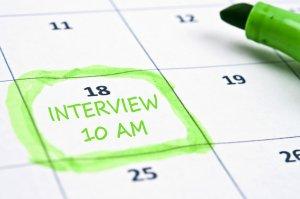 Interview Day on calendar