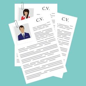 Stack of CVs