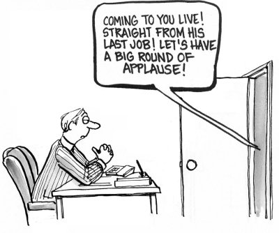 cartoon of interview technique